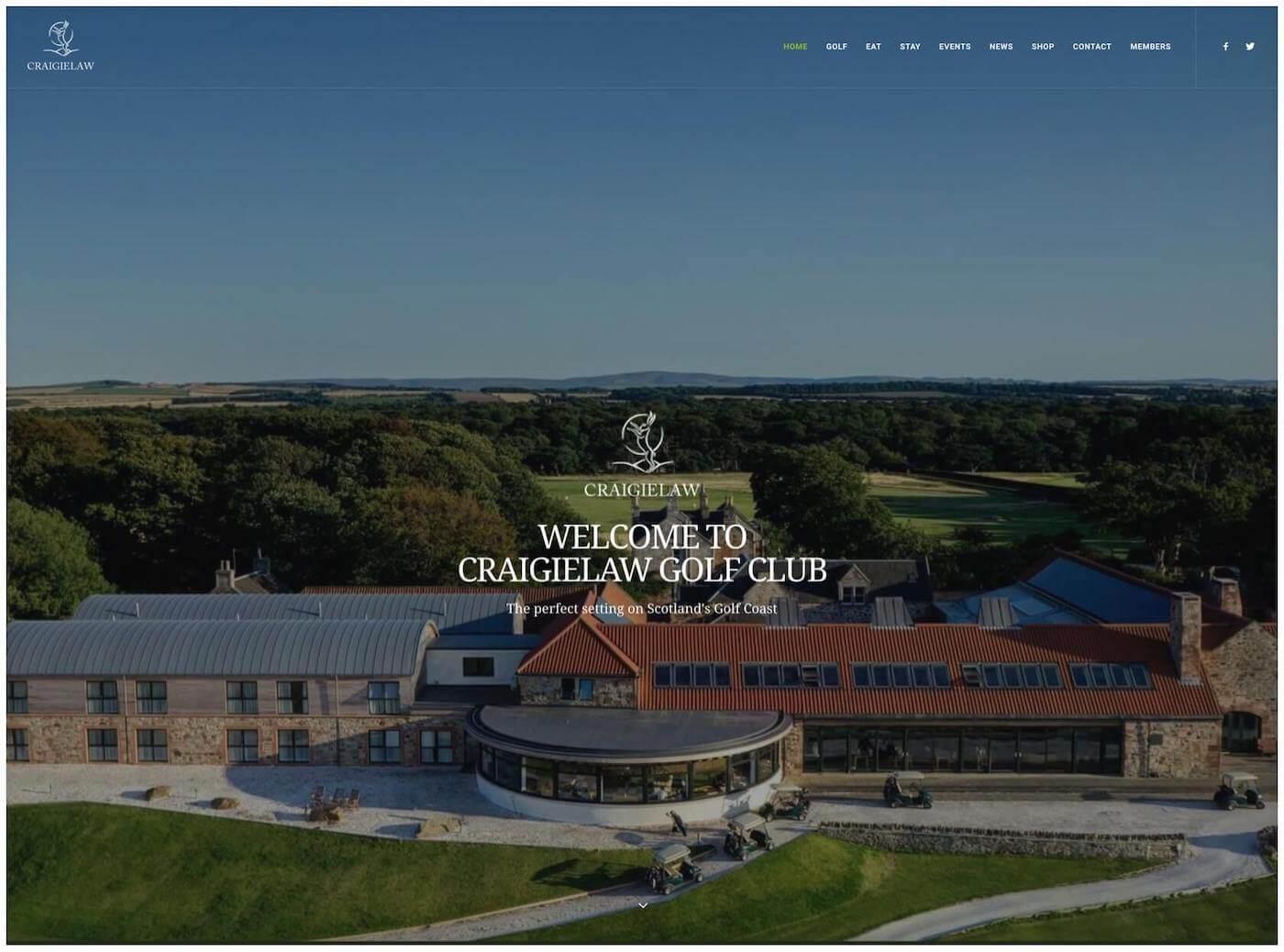 Web design for Craigielaw Golf Club, East Lothian