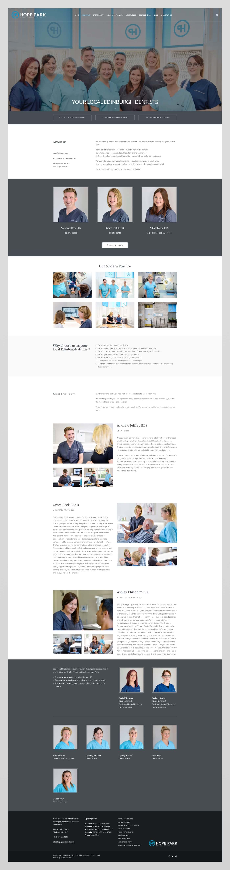 Website design for Hope Park Dental, Edinburgh